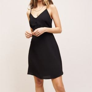 NWT cami fit and flare dress w button front